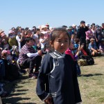Mongolian girl at ceremony