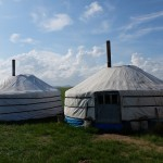 Yurt homes of successful grassland family