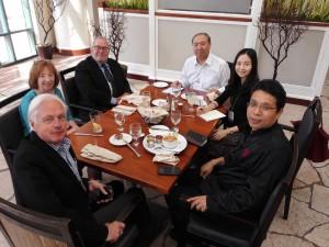 (L to R) Michael Ann Williams, Tim Lloyd, Chao Gejin, Xi Chen, Song Junhua, October, 2015, Long Beach